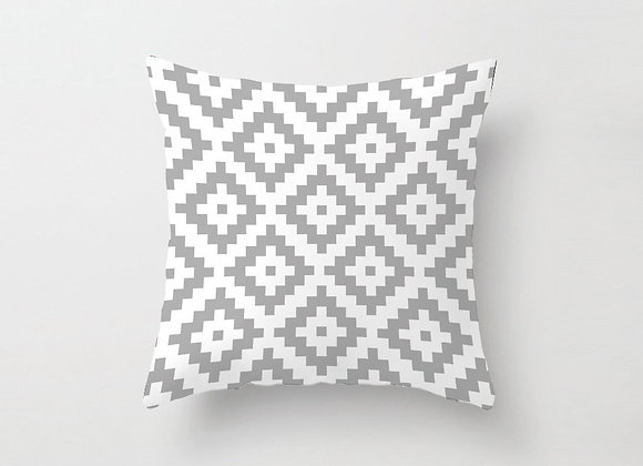 Grey Aztec Cushion Cover
