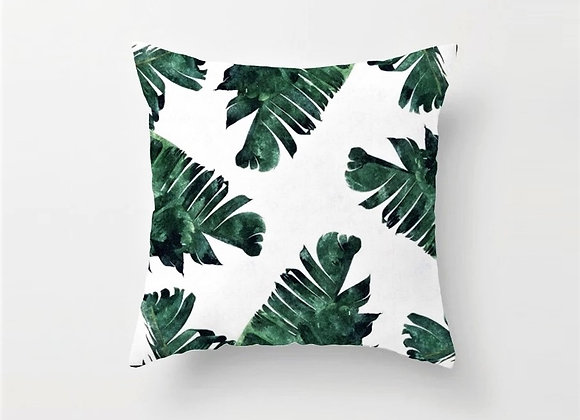 Tropical Palm Leaves Cushion Cover