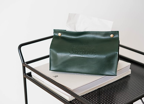 The Simple Life Button Tissue Cover - Green