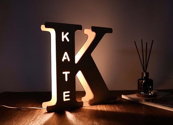 Personalised Alphabet Name Light - Big