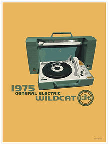 "General Electric Wildcat ""The Icons"" Poster"
