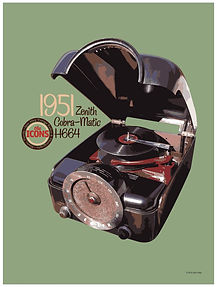 "Zenith Cobra-Matic H664 ""The Icons"" Poster"