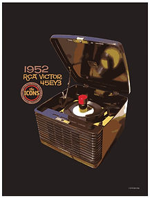 "RCA Victor 45EY3 ""The Icons"" Poster"