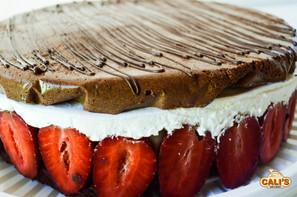 Produção de torta mousse