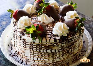Torta chocolate com morango