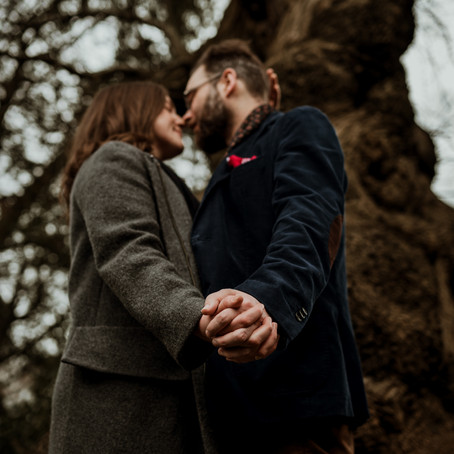 ADELE & HARRY - ENGAGEMENT SHOOT IN LONDON, HAMPSTEAD HEATH