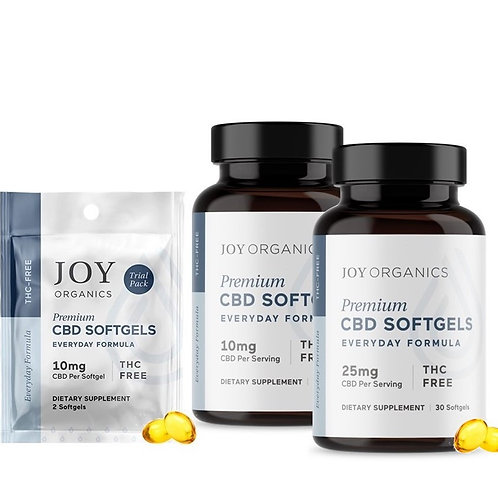 CBD Oil Softgels -   4 Choices: Sample pack/jar (Qty 2) or Bottle (Qty 30)