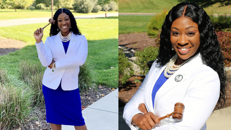 Leadership Highlight: Watch the Yard features Tau Delta Zeta's President, Darkesha Moton