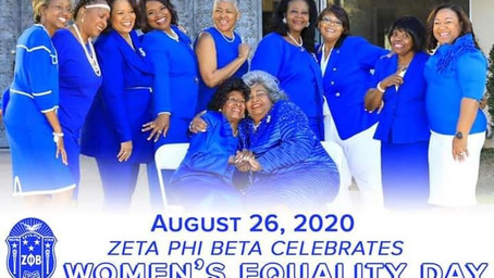 Zeta Phi Beta Celebrates Women's Equality Day