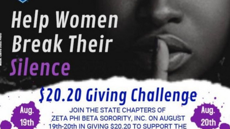 Help Zeta Phi Beta Combat Domestic Violence - Break the Silence!