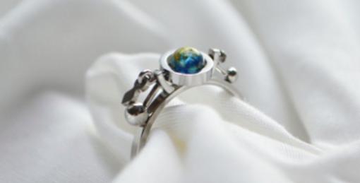 Tri Astral 冰藍x金色 戒指