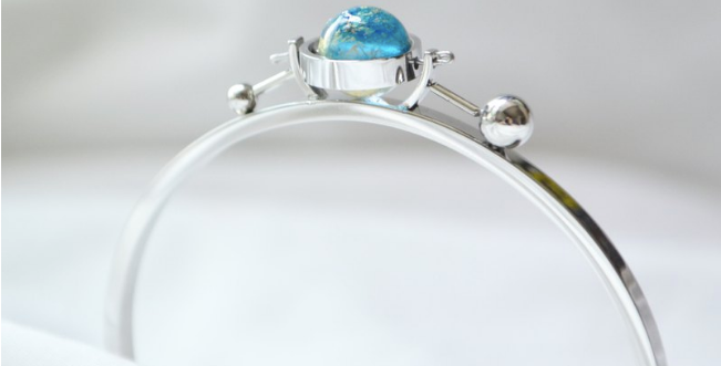 Tri Astral 冰藍x金 手鐲 — 銀色