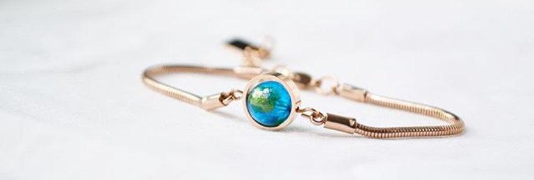 地球手鍊 -- 玫瑰金
