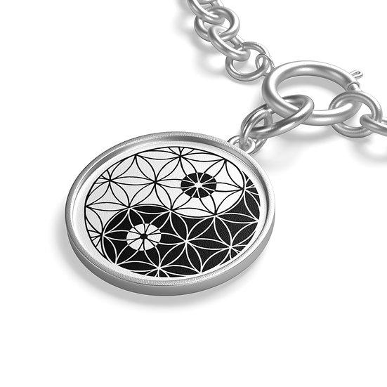 Yin & Yang - Flower of Life - Chain Bracelet