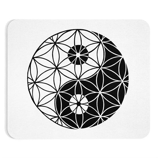 Yin & Yang - Flower of Life - Mousepad