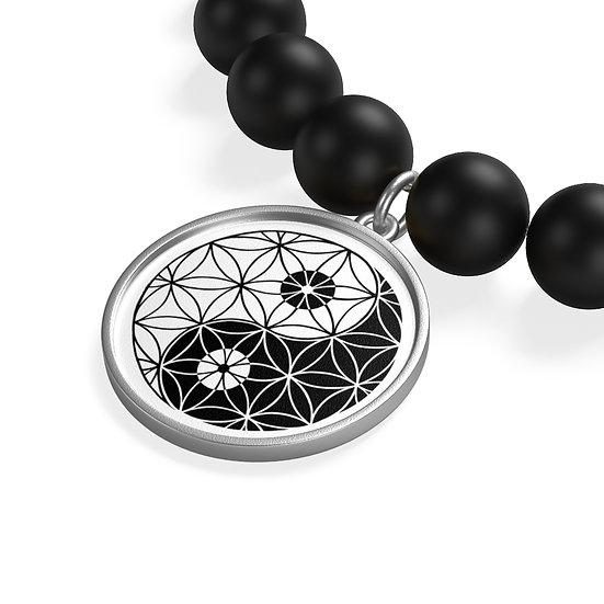 Yin & Yang - Flower of Life - Onyx Bracelet