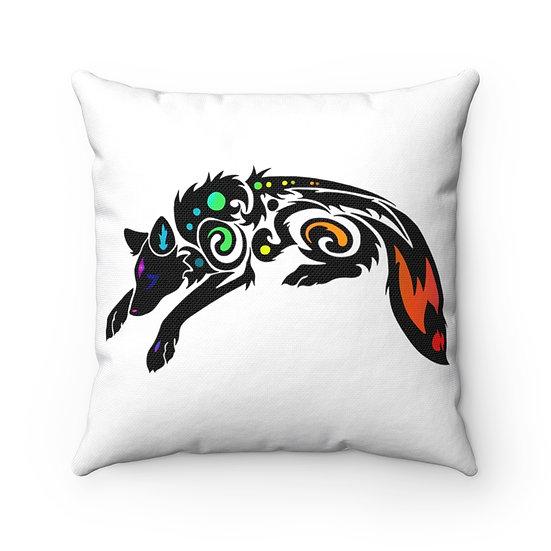 Dreaming Fox - Dreams Are Magic - Spun Polyester Square Pillow