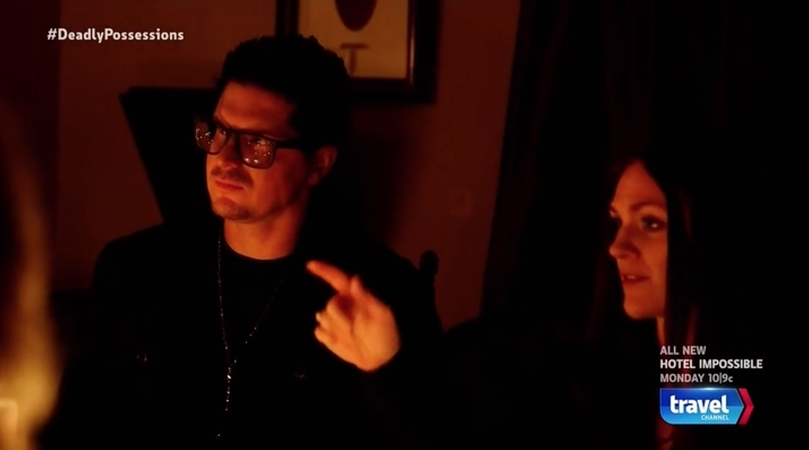 with Zak Bagans during filming