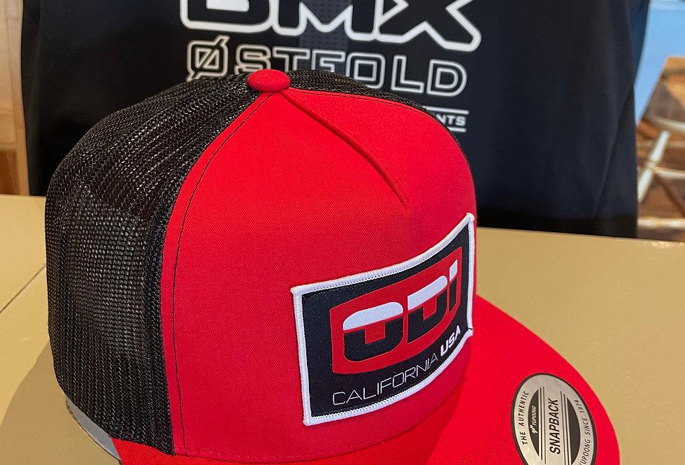 ODI Cap Logo, red snapback
