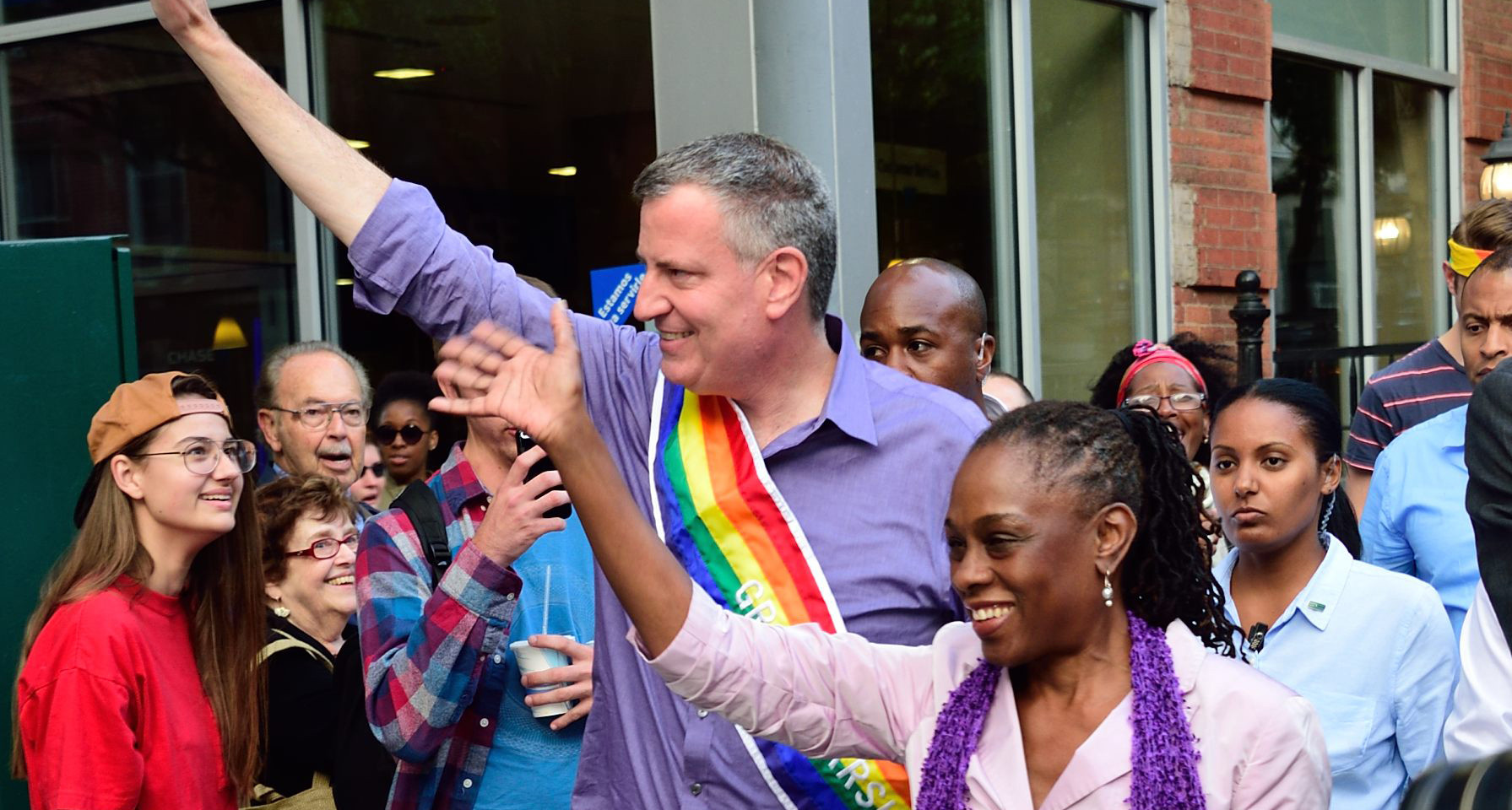 Bill de Blaiso and Chirlane McCray