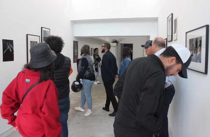 Visiteurs exposition George Hallett