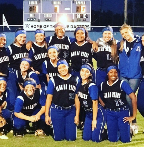 The Lady Darters at regional finals!