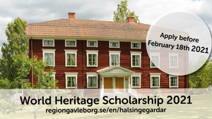 World Heritage Scholarship 2021 - open for application