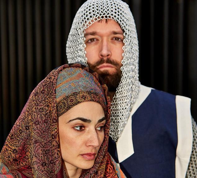 "Katrina Yashar and William J. Brown III star in Betty Shamieh's ""Territories"" for the Arabian Shakespeare Festival."