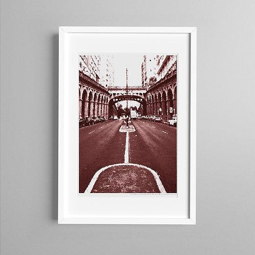 Borges de Medeiros e Viaduto em vermelho