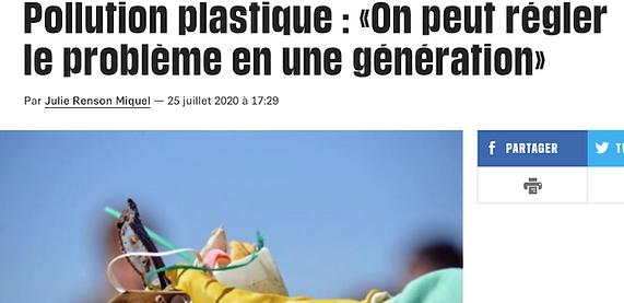 Pollution plastique: «On peut régler le problème en une génération»