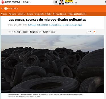 Les pneus, sources de microparticules polluantes