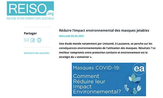 Réduire l'impact environnemental des masques jetables