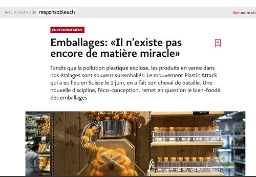 Emballages: «Il n'existe pas encore de matière miracle»