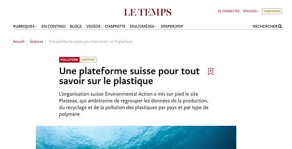 Une plateforme suisse pour tout savoir sur le plastique