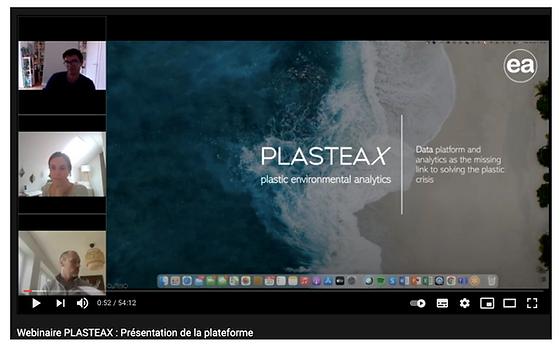 Webinaire PLASTEAX : Présentation de la plateforme