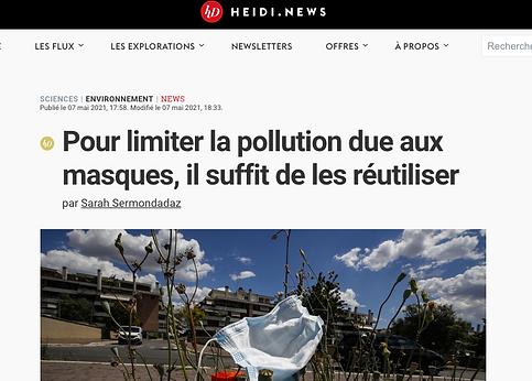 Pour limiter la pollution due aux masques, il suffit de les réutiliser