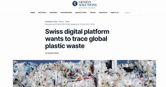 Swiss digital platform wants to trace global plastic waste