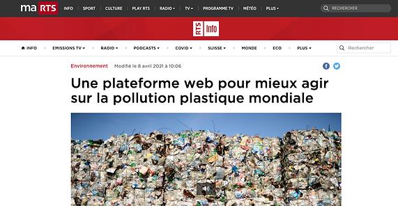 Une plateforme web pour mieux agir sur la pollution plastique mondiale