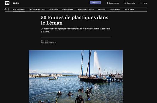 50 tonnes de plastiques dans le Léman