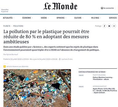 La pollution par le plastique pourrait être réduite de 80% en adoptant des mesures ambitieuses