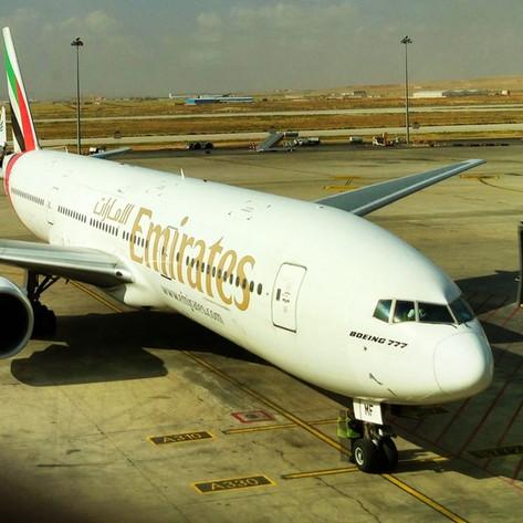 REVIEW:  Emirates Economy Class Amman - Dubai