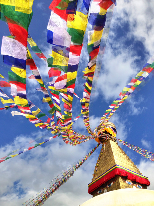PHOTO:  Prayer Flags and Paddys - A Weekend in Kathmandu