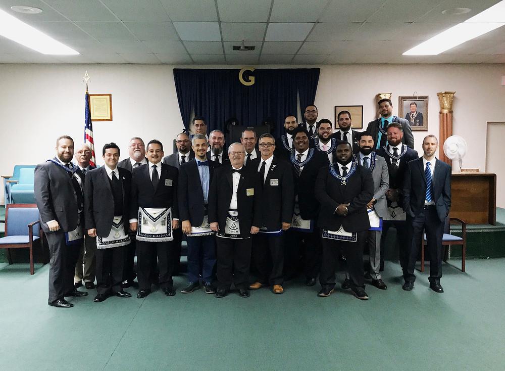 R:. W:. Armando Mitat's official visit to Hialeah-Opa-Locka Lodge No. 391