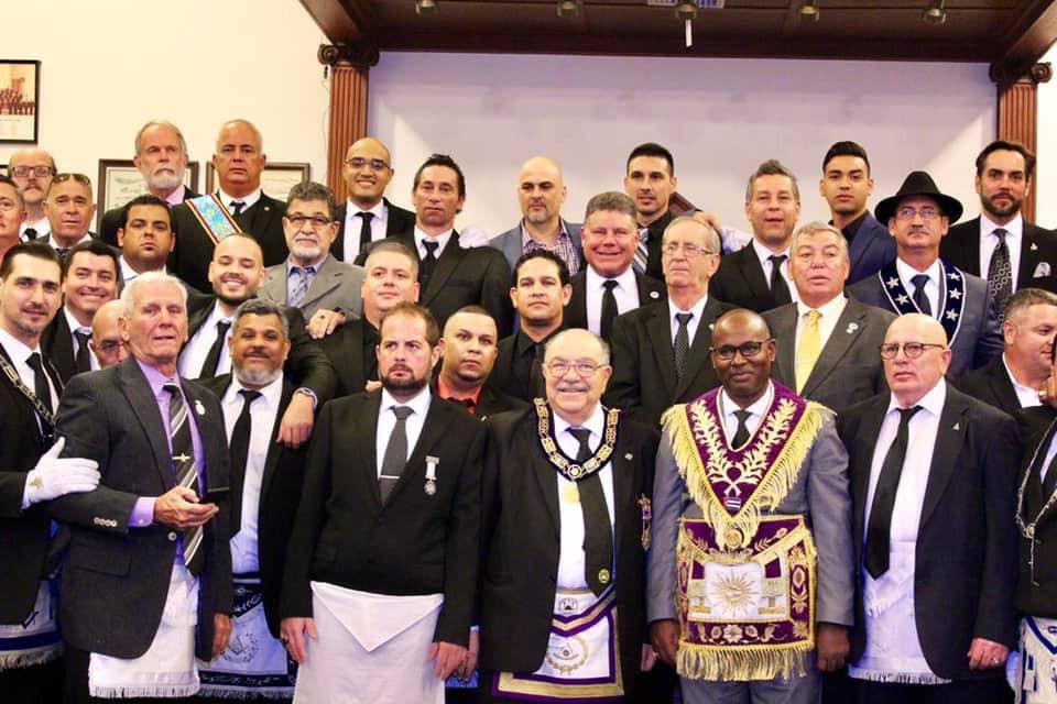 Grand Masters of FL & Cuba visiting Luz De America Lodge No. 255