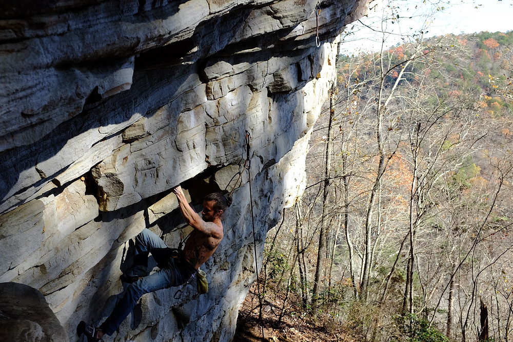 Todd Clark climbing in Little River, AL  photo by Markham Tuck