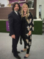 Ellie and Laurence Llewelyn Bowen at the Ideal Home Show
