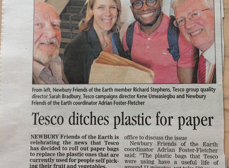 Tesco chooses Paper over Plastics
