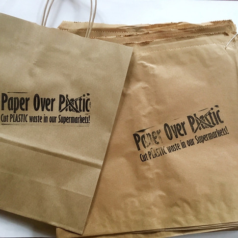 Paper over Plastic