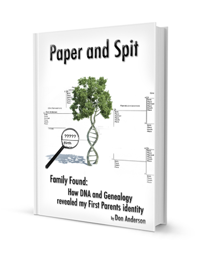 Book about searching for birth parents, DNA testing information, and a human interest story