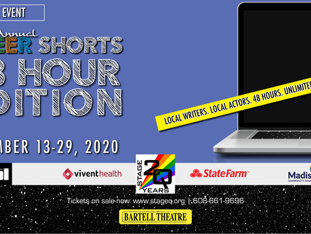 StageQ Update: New Virtual Queer Shorts This Fall; Mainstage Shows Postponed to 2021.